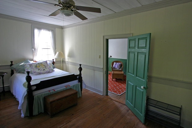 east bed to hall