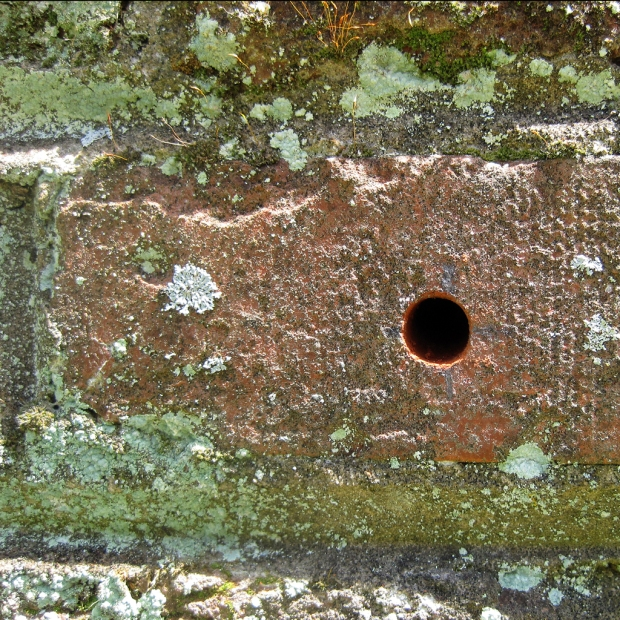 brick drill holes