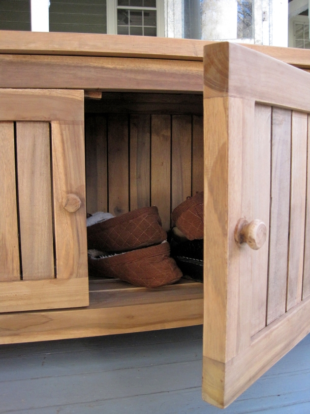 shoe storage bench plans
