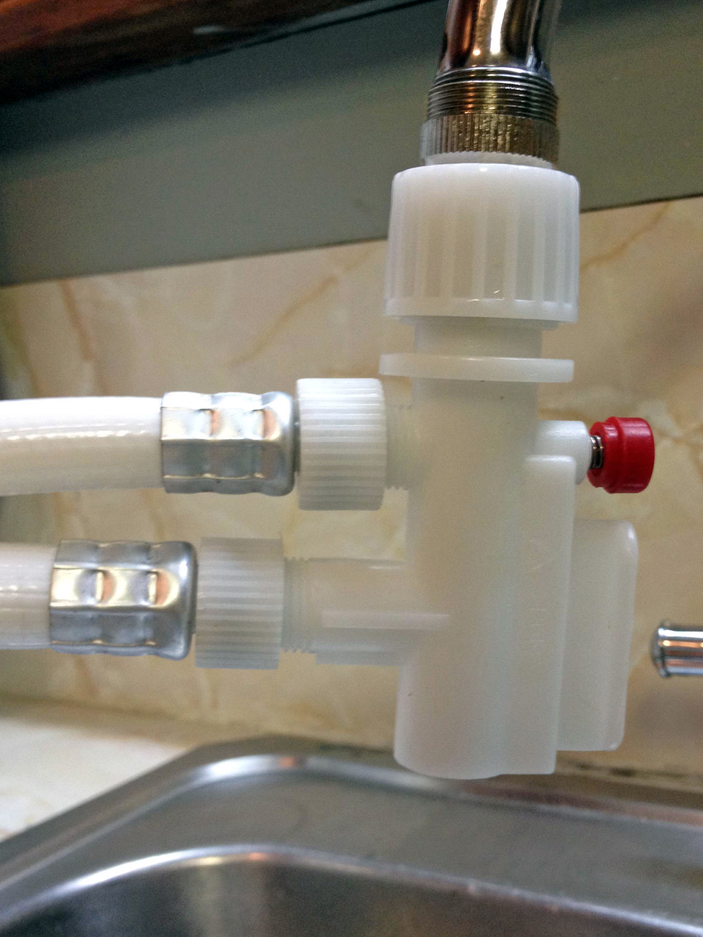 dishwasher faucet connection