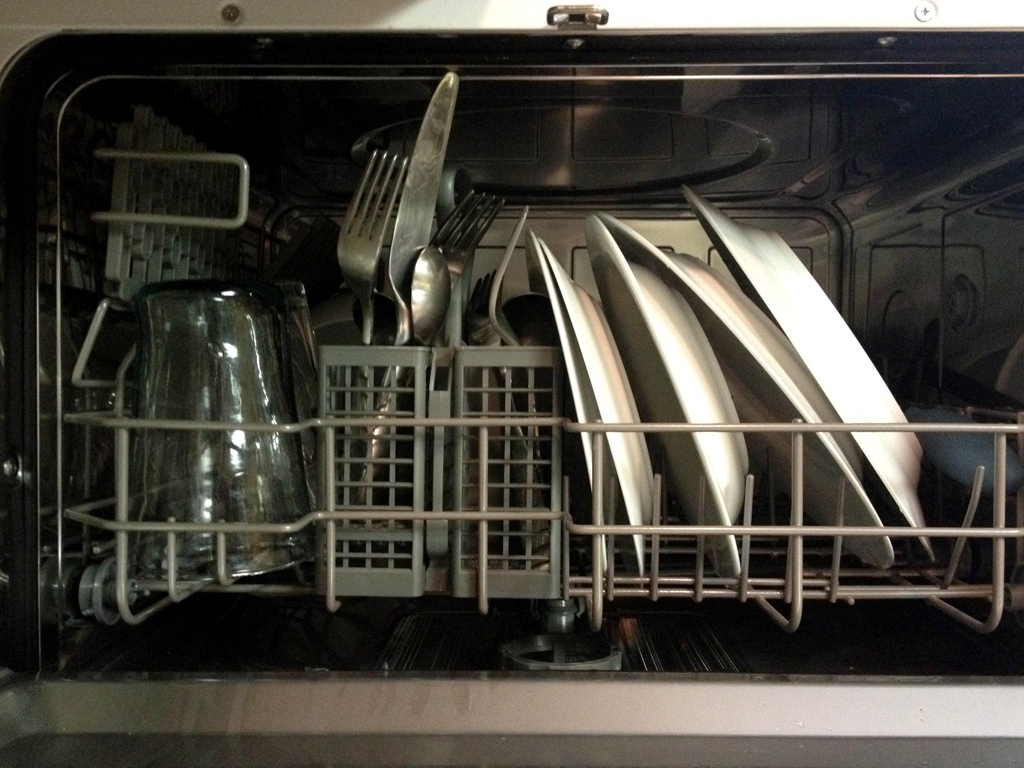 small dishwasher interior