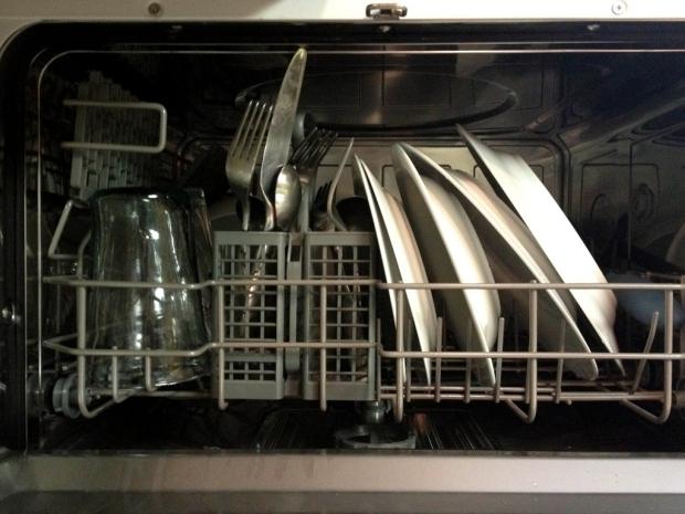 small dishwasher interior